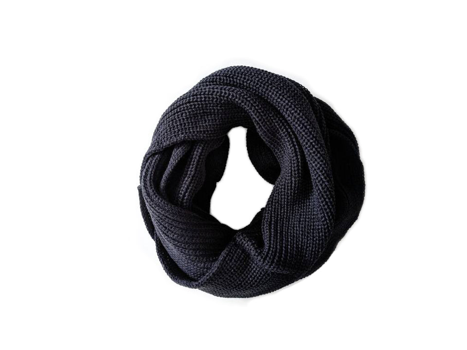 basic black infinity scarf