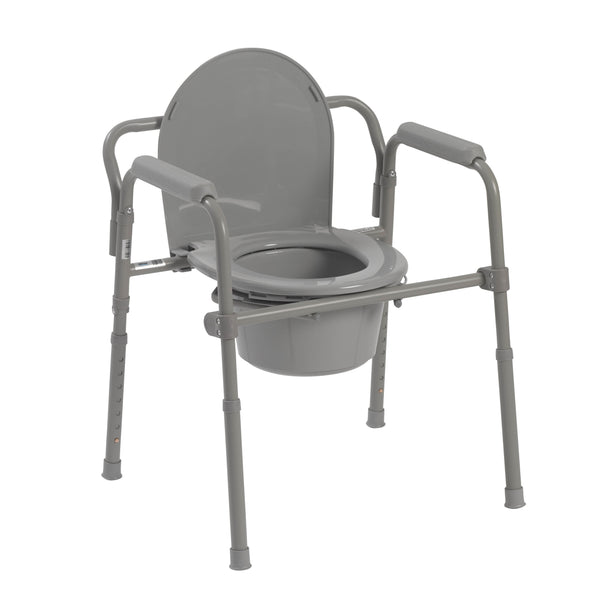 Steel Folding Bedside Commode - Discount Homecare & Mobility Products