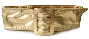 Deborah Dratell Lisea Metallic Corset Belt -Gold, - Funky Collective