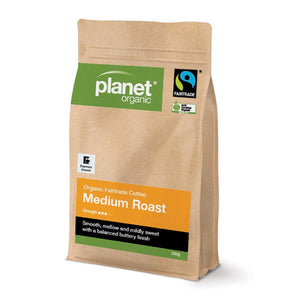 Planet Organic Organic Coffee Medium Roast Espresso Ground 250g