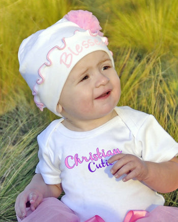 Elizabeth Rose Blessed Beanie | Faith Baby Christian Apparel for Kids'
