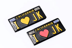 DC-50975 American 3D Metal License Plate 1960 Classic Vintage California 1:10 scale ILOVEJK Mould Edition