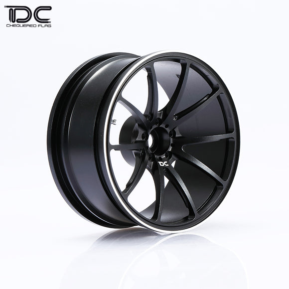 DC RC G25 Wheel Offset +6/+9 Black/Slive EP 1:10 RC Cars Drift On Road RWD AWD (4pcs)