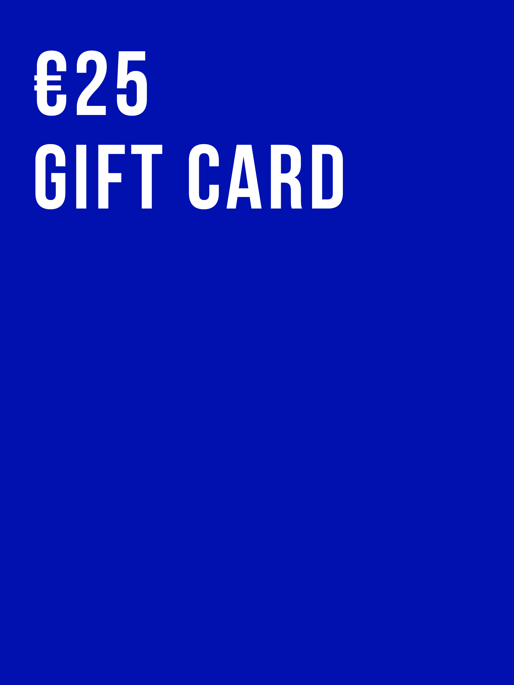 €25 Gift Card