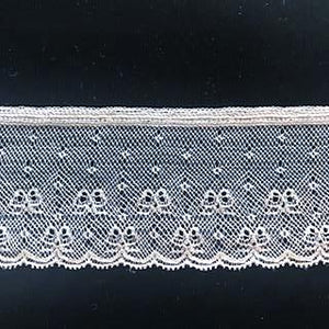 L-10 White and Ivory - Lace Edging - 50mm - with Bow design.