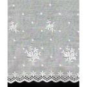 E-610 White - 260mm Embroidered Edging.