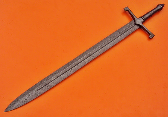 SW-99 Handmade Damascus Steel 32.2 Inches Viking Sword - Great Piece of Art
