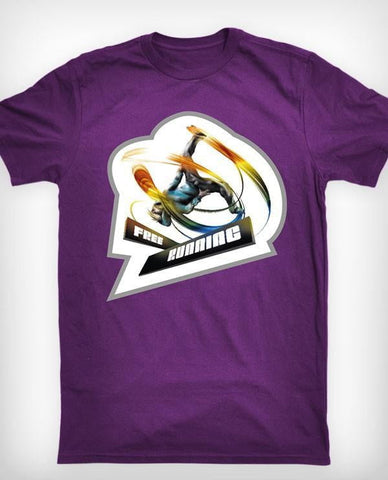 "Freerunning ""Action"" T-shirt, lilla - parkourshop"