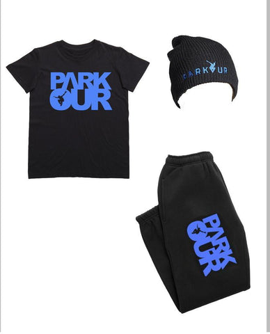 Parkour startpakke - Small ( sort med blå ) - parkourshop