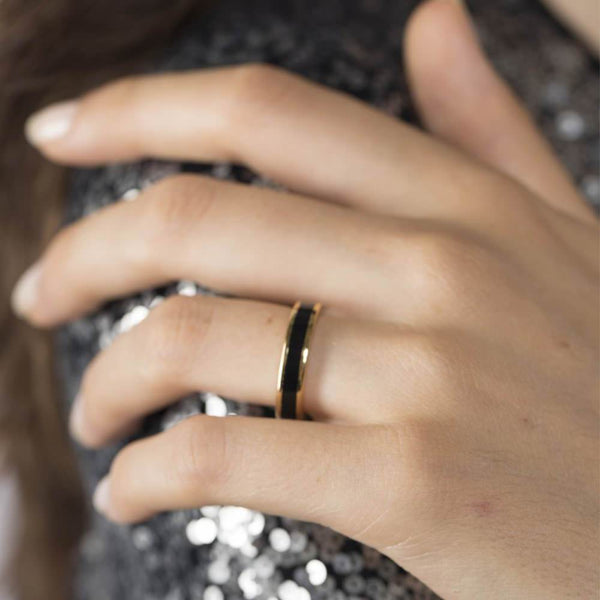 BANGLE RINGS <br> BLACK