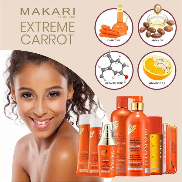 MAKARI - EXTREME ARGAN & CARROT BOTANICAL BODY OIL - Hydrates. Softens. Repairs. Boosts luster.  For all skin types except sensitive - ShanShar