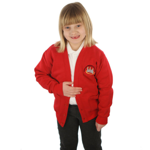 Durand School Cardigan with Embroidered Logo