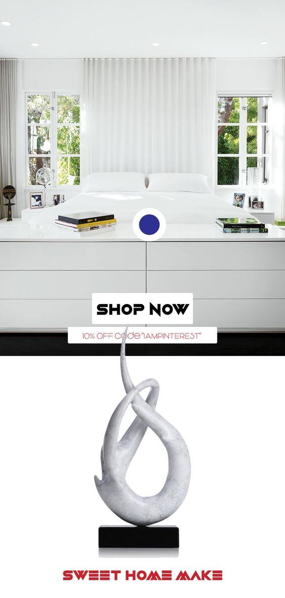 Pure White Bedroom Console White Object Decor