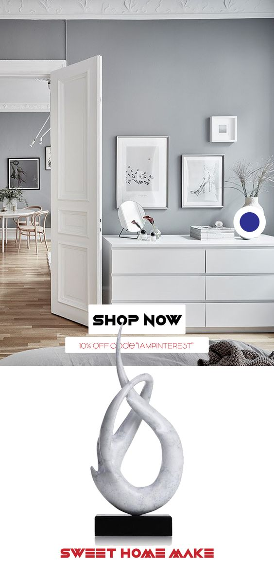 Scandinavian Nordic Bedroom White Console Modern Decor