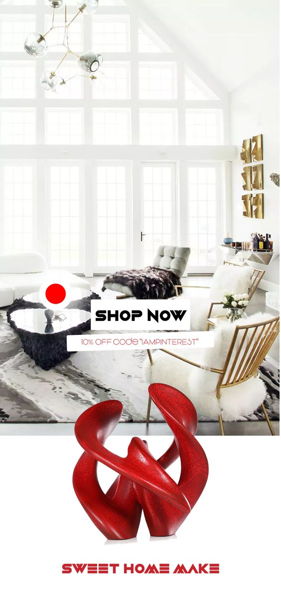 White Luxury Living Room Interior Design Coffee Tables Modern Abstract Decor