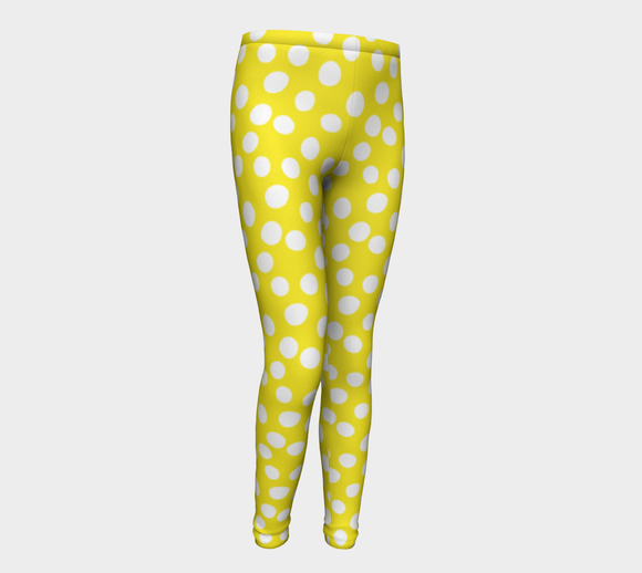All About the Dots Youth Leggings - Yellow