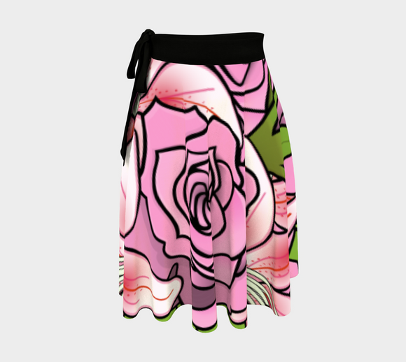 Bouquet of Flowers Wrap Skirt