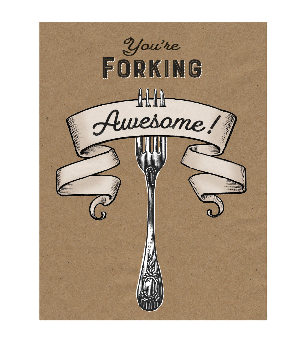 You are Forking Awesome Greeting Card