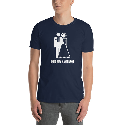 Just Married T Shirt Newly Married T Shirt Navy Under New Management T Shirt For Men - FlorenceLand