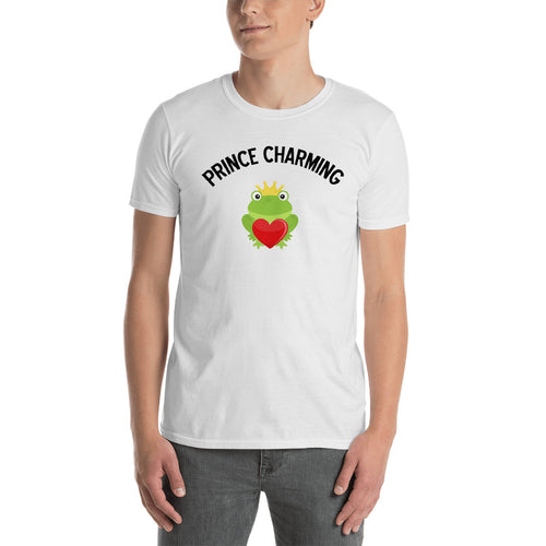 Frog Prince Charming T Shirt White Frog Charming Prince T Shirt for Men - FlorenceLand