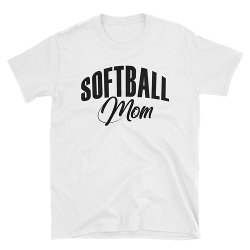 Softball Mom T Shirt Unisex White Sporty Softball Mom Gift T Shirt Design Idea - FlorenceLand