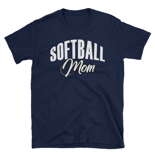 Softball Mom T Shirt Unisex Navy Sporty Softball Mom Gift T Shirt Design Idea - FlorenceLand