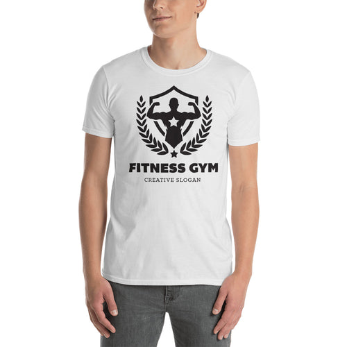 Buy Fitness Gym Creative Slogan T-Shirt for Men in White