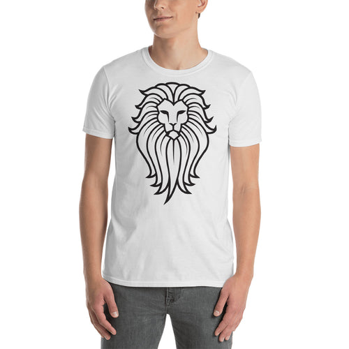 Tribal Lion T Shirt White Lion Wild Life T Shirt for Men - FlorenceLand