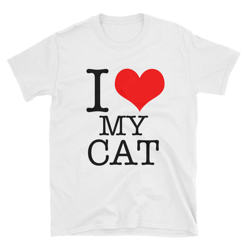 I Love My Cat T-Shirt White Cat Lover T Shirt for Men - FlorenceLand
