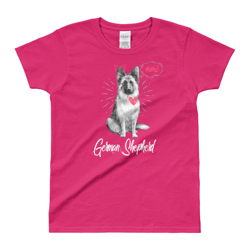 German Sheppard T Shirt Pink German Sheppard Mom T Shirt for Women - FlorenceLand
