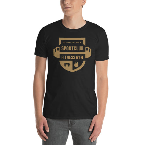 Buy Performance Sports Club Fitness Gym T-Shirt for Men in Black