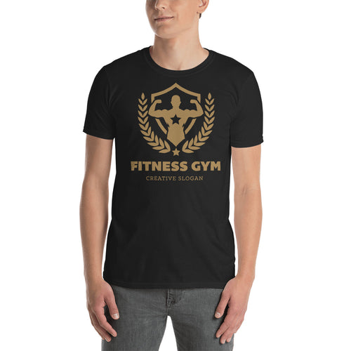 Buy Fitness Gym Creative Slogan T-Shirt for Men in Black