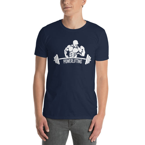 Power Lifting T Shirt Navy Gym T Shirt Fitness T Shirt for Men - FlorenceLand