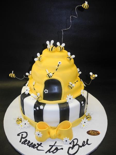 Bee Cake with Black and Yellow