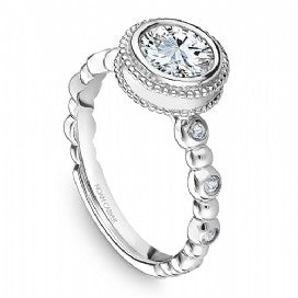 Channel Set Engagement Ring R009-01WM