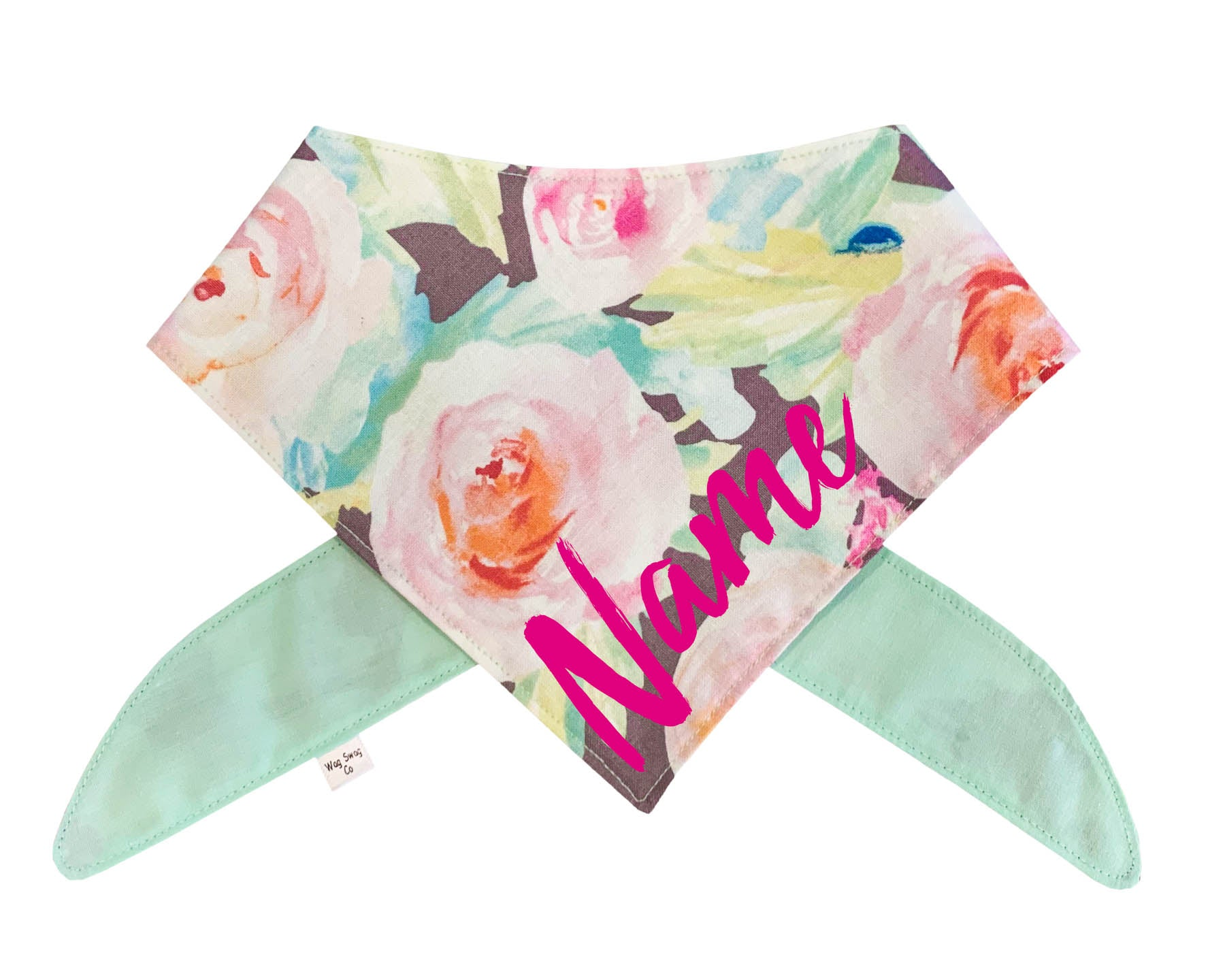 Tropical & Gray Floral Bandana