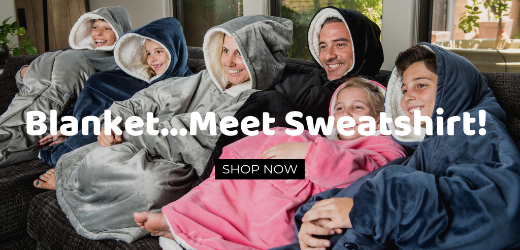family time in a comfy blanket sweatshirt