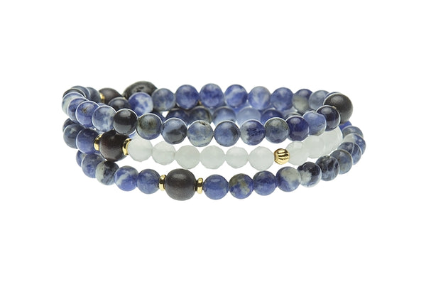 Bliss Wrist Wrap or Necklace, Sodalite – Throat Chakra