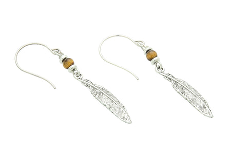Antler Earrings, Tigers Eye – Solar Plexus Chakra
