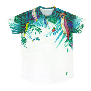 Birds &  Flowers Round Neck Shirt