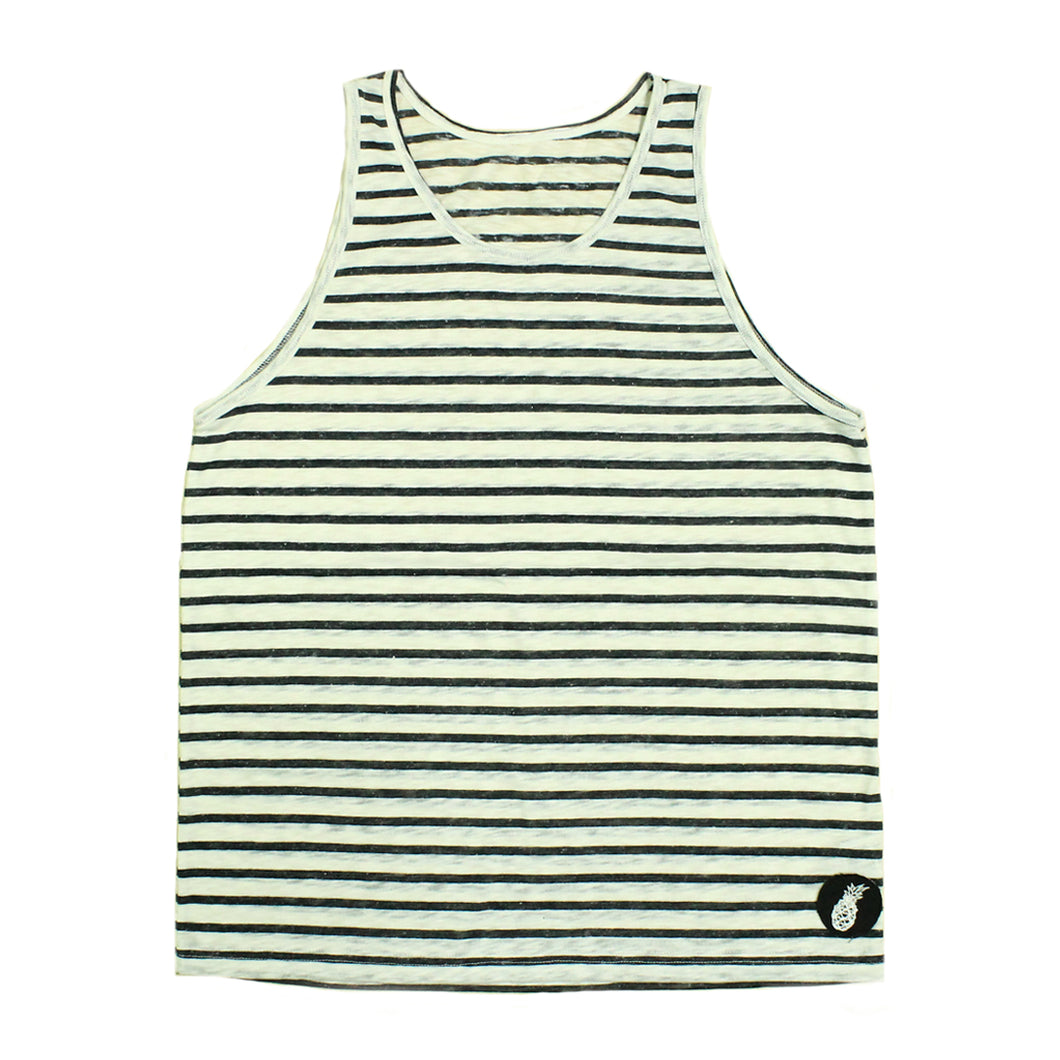 Black and White Stripes Tank Top