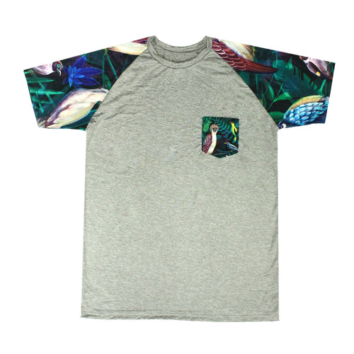 Birds and Flowers Raglan Shirt