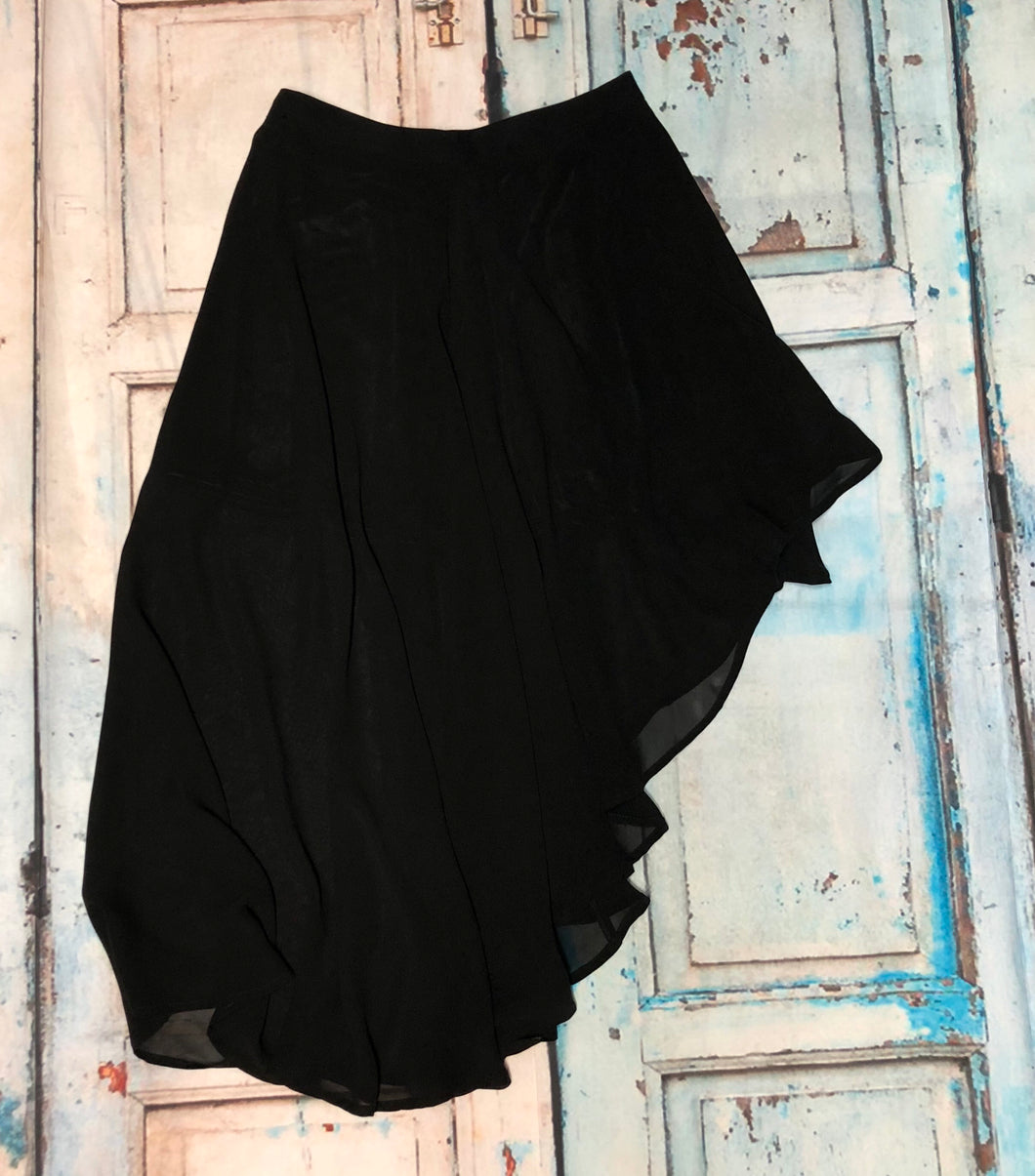 Tiered Black Skirt