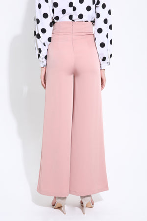 Front Button Long Pant 1488 - ample-couture
