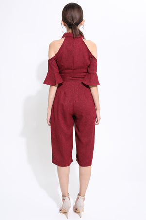 Open Shoulder Jumpsuit 1557 - ample-couture