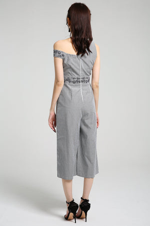 Stripe Jumpsuit 2370 - ample-couture