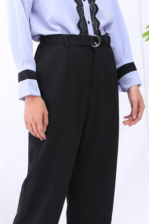 Belted Long Pants 3063 - ample-couture