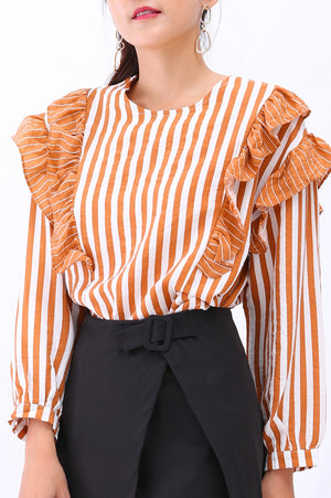 Stripe Top 3069 - ample-couture