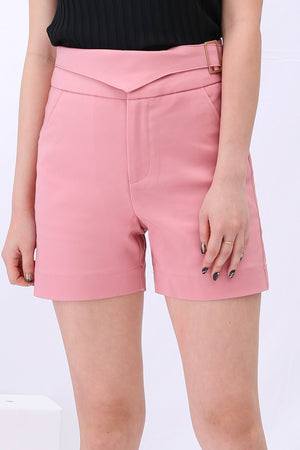Fake Belt Short Pants 3109 - ample-couture