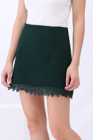 Lace Overlay Skirt Pants 3104 - ample-couture